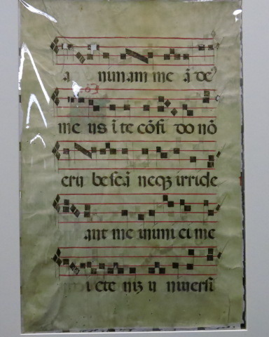 single leaf from a medieval gradual