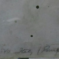 """Pencil inscription which states """"1540, Italy/Rome"""""""